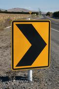 Road Safety Warning Chevrons Stock Photos