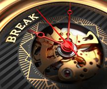 Break on Black-Golden Watch Face Stock Illustration