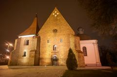 Stock Photo of Gothic church of the Order in the night
