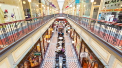 4k timelapse video of people in a shopping mall in Adelaide, South Australia Stock Footage