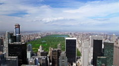 High floor view to the Central park, New York, time lapse Stock Footage