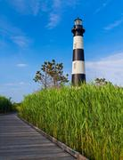 Lighthouse Boardwalk - stock photo