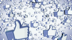 Facebook likes Stock Footage