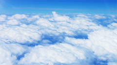 Aerial view of Clouds passing - stock footage