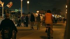 Hollywood Beach night static 4k Stock Footage