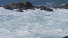 Ocean sea surf white water spray choppy seas Stock Footage