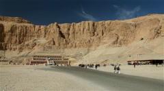 HATSHEPSUT TEMPLE & TRANSPORT, NEAR LUXOR, EGYPT Stock Footage