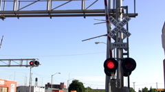 Train Crossing with Nat Sound Stock Footage