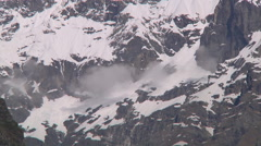 Snowy mountains and clouds at Badrinath in Uttarakhand, India Stock Footage