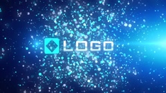 Glow Light Particles Explosion Business 3D Logo Reveal Intro Animation Stinger - stock after effects