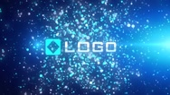 Stock After Effects of Glow Light Particles Explosion Business 3D Logo Reveal Intro Animation Stinger