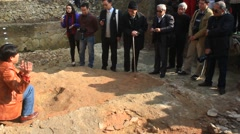 Archaeological excavations, Asia Stock Footage