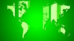 Worldmap detailed animation 10 Stock Footage