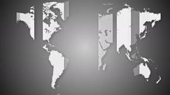 Worldmap detailed animation 11 Stock Footage