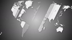 Worldmap detailed animation 12 Stock Footage