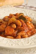 Tuscan Bean Soup - stock photo