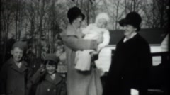 Depression era home movies,mom and grandma with kids Stock Footage