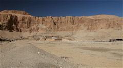 HATSHEPSUT TEMPLE NILE WEST BANK NEAR LUXOR EGYPT Stock Footage