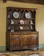 old english antique kitchen dresser - stock photo