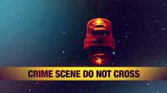 Crime scene in snow Stock Footage