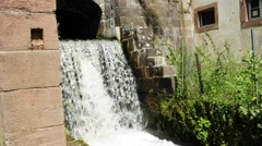 Water power use in the former ironworks Stock Footage