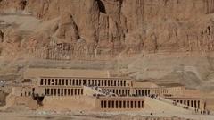 HATSHEPSUT TEMPLE, NILE WEST BANK, NEAR LUXOR, EGYPT Stock Footage