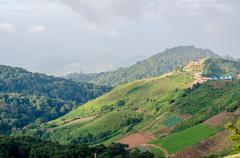 Mountain view at Phu Thap Boek, Phetchabun, Thailand - stock photo