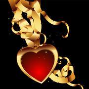 heart form - stock illustration