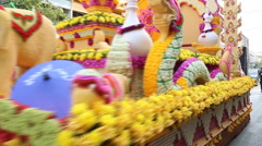 2015 annual Flower Festival. Stock Footage
