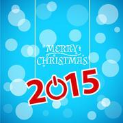 Merry Christmas lettering - stock illustration