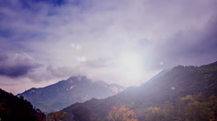The amazing cloud among Dabie Mountain in Hubei Province, China Stock Footage