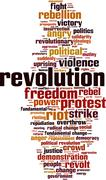 Revolution word cloud - stock illustration