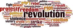 Revolution word cloud Stock Illustration