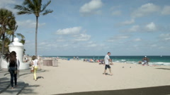 Stock Video Footage of Fort Lauderdale beach, A1A & Las Olas, Spring Break