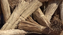 Market in thailand - ties of bamboo Stock Footage