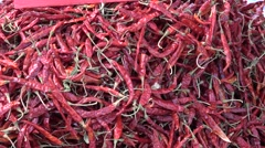 Red chilli in thailand Stock Footage