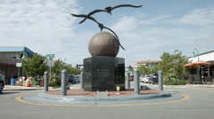 Pelican statue, tourist area of Lauderdale by the Sea, Florida Stock Footage
