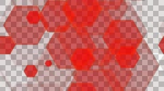 tileable red hexa pattern with alpha - stock footage