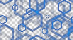 Tileable blue hexa lines with alpha Stock Footage