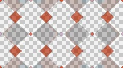 tileable retro kite pattern with alpha - stock footage