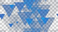 tileable triagonal blue pattern with alpha Stock Footage