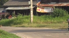 Traffic in thailand rural in isaan province Stock Footage