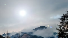 The amazing cloud among Dabie Mountain in Hubei Province, China - stock footage