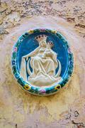 House icon of Madonna and child, Malta Stock Photos