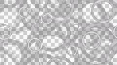 Tileable monochrome ring lines with alpha Stock Footage