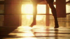 MMA Fighter Training in Sunset Light Stock Footage