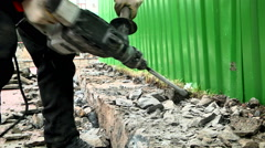 Man with Jackhammer - stock footage