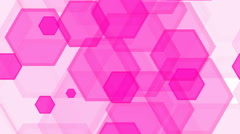 Tileable pink hexa decoration Stock Footage