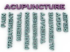 3d image Acupuncture issues concept word cloud background Piirros