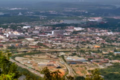 Chattanooga seen from  Lookout Mountain Stock Footage